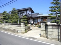 施工前(既存ブロック塀と門柱)